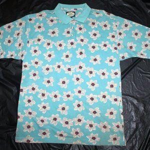 Tommy Bahama Mens Short Sleeve Floral Hawaiian Pol